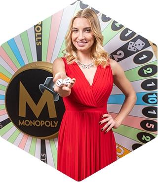 monopoly live dealer van evolution toont dobbelstenen