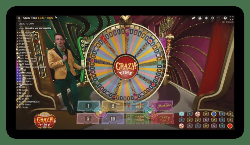 Crazy-time-spelhow-host-staat-voor-het-rad