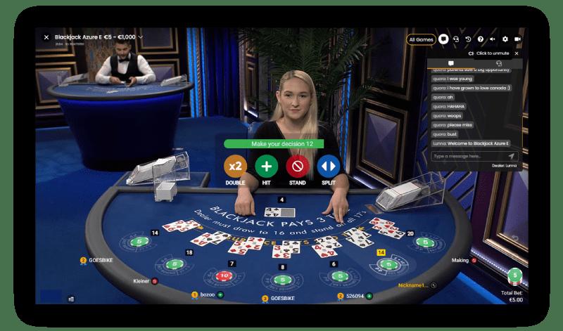 Dealer-geeft-opties-double-hit-stand-split-voor-speler