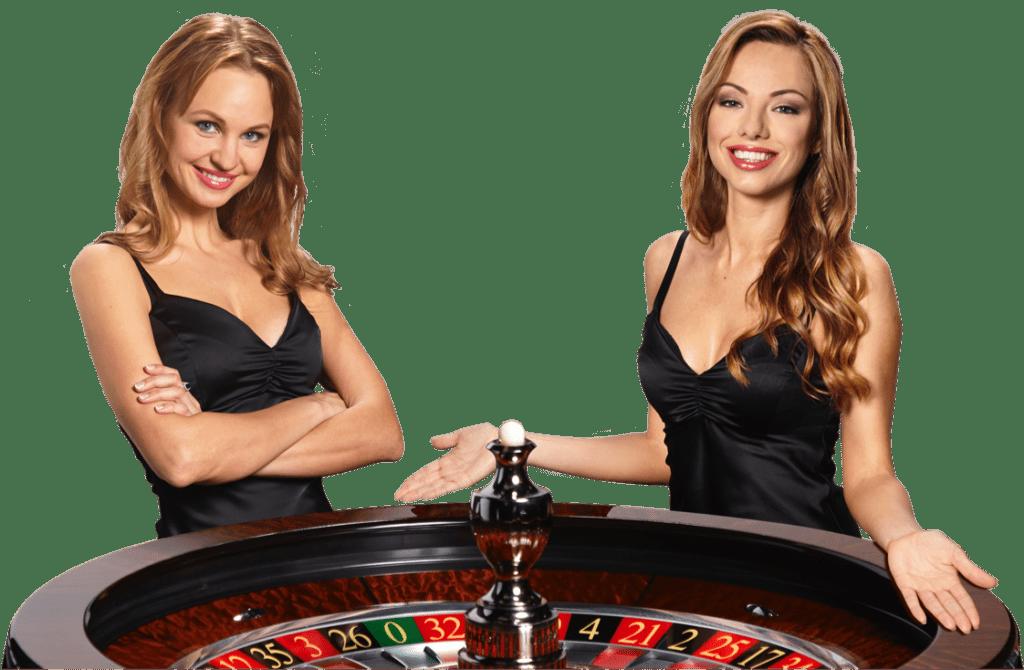 Live roulette dealers