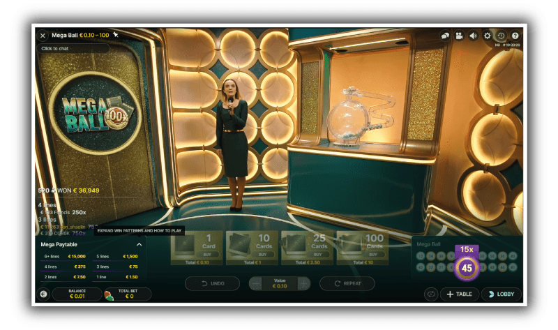 zo ziet de studio er uit - Mega-ball-studio-met-live-casino-host