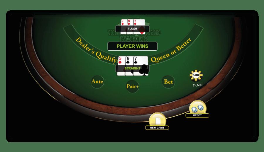 Player-wins-met-three-card-poker