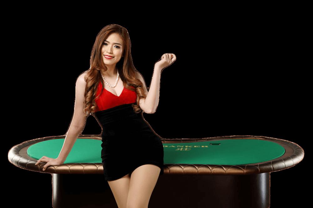 baccarat dealer en speeltafel live casino