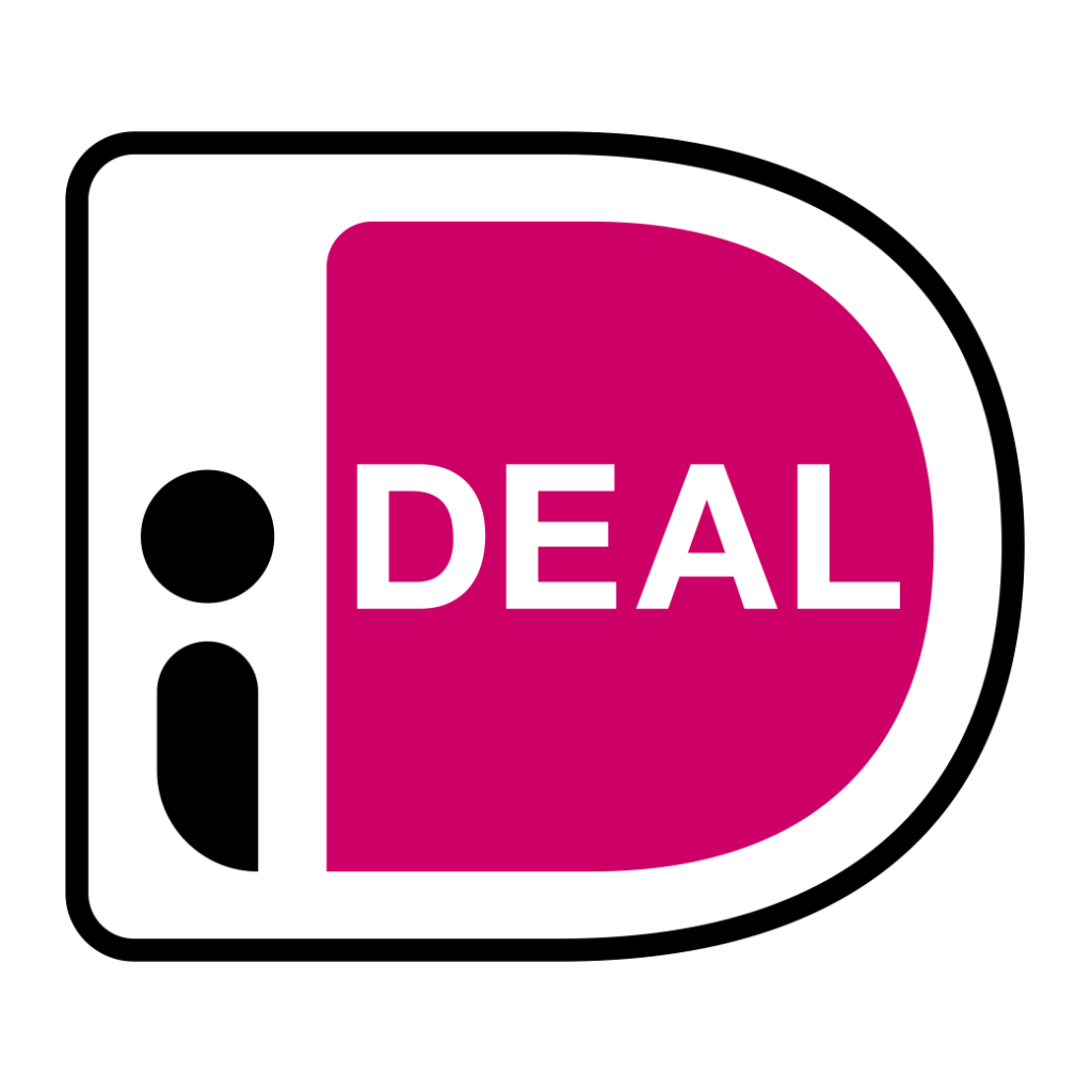 officiele ideal logo zwart en rose