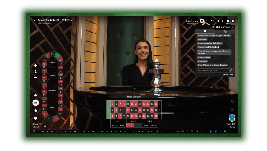 online roulette live dealer wacht op inzetten spelers