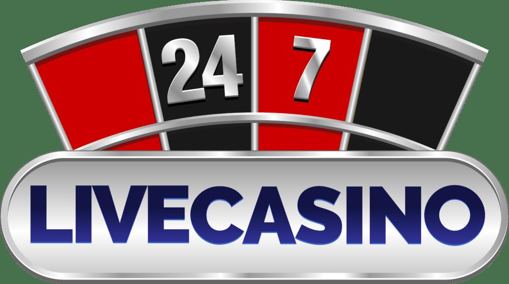 24 7 live casino logo website